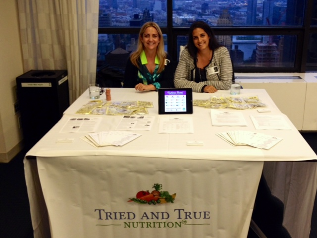 Pam and Priya, nutrition table at AHA