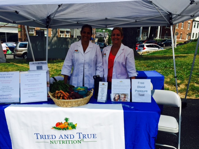 Priya & Pam, Huntington Farmers' Market, August 2015