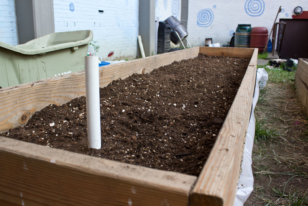 Add more of the soil mixture until at least 2 inches from the top.   After the SIP is complete, you can begin planting as normal!