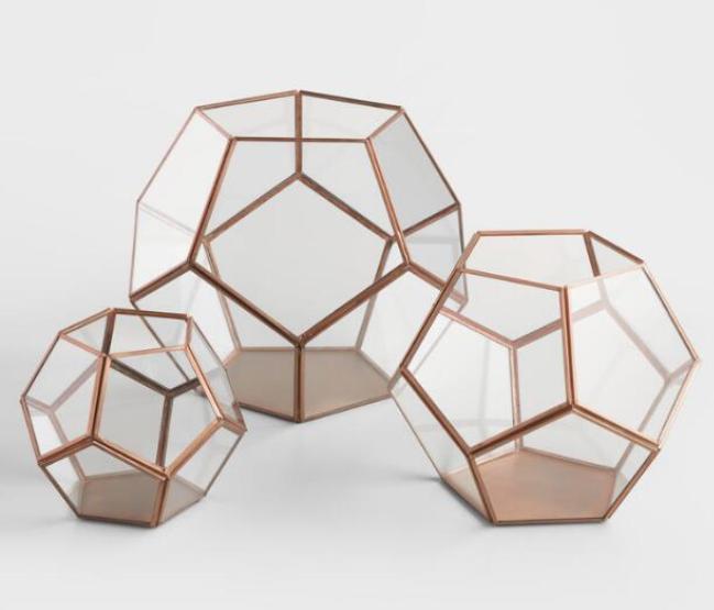 Fun geometric terrarium. On sale! $14.99-$29.99, buy it  here .
