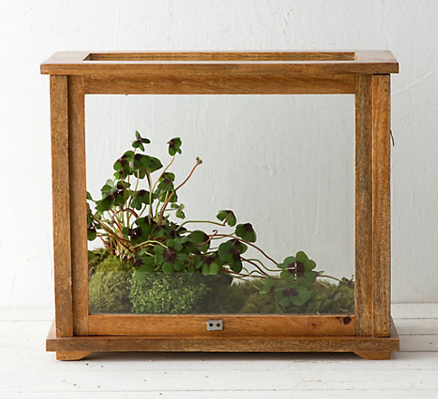 I personally want this one. This doubles as a display case and has an antique feel to it. $128, buy it  here .