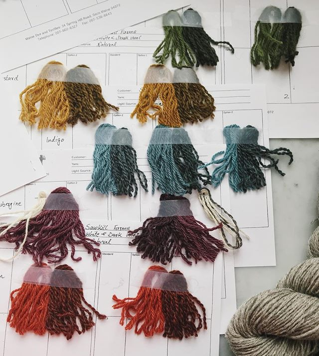 Dye samples for our new yarn, coming soon! 🐑