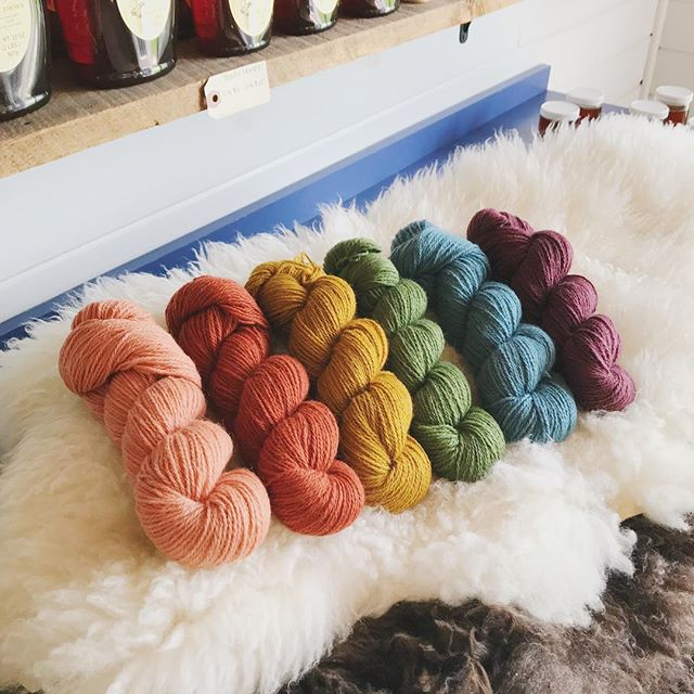 🌈🌈🌈 Approved samples. One step closer to being available in our shop! What color work project should I knit in this amazing worsted weight yarn!? Thinking the #gallowaycardigan or #dubulasweater... what do you think!?