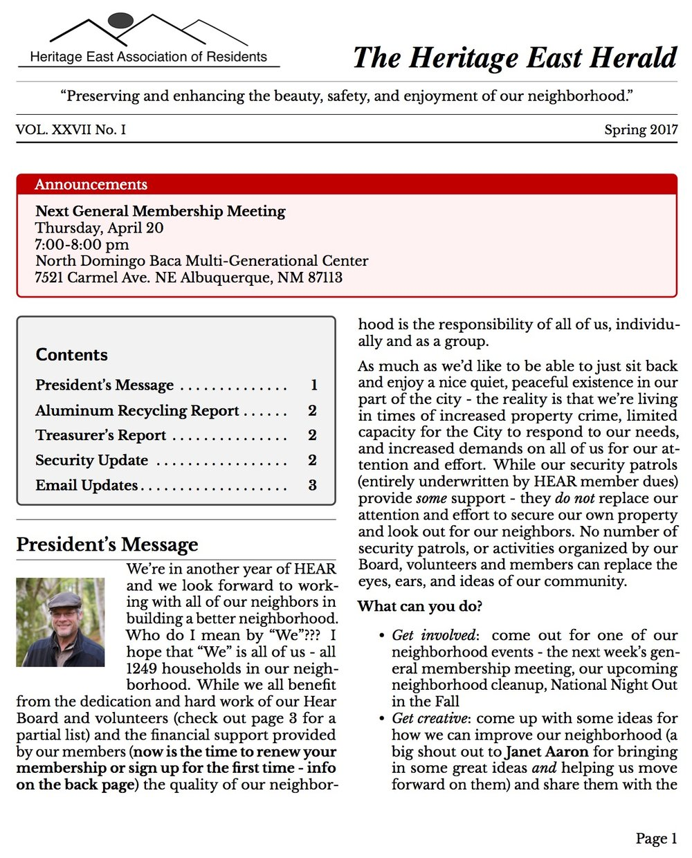 Click to Download the full newsletter