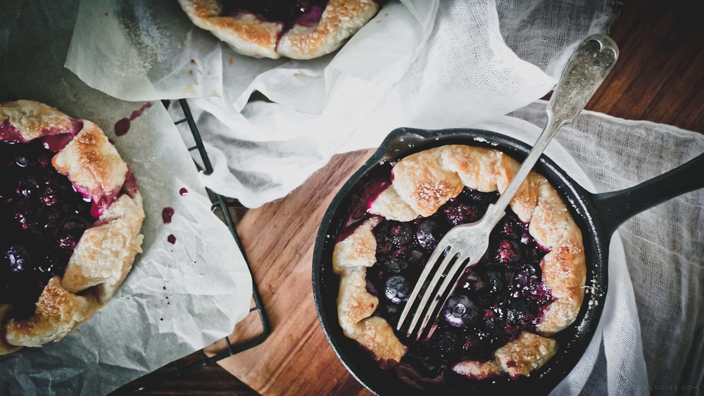 Rustic Blueberry Galettes