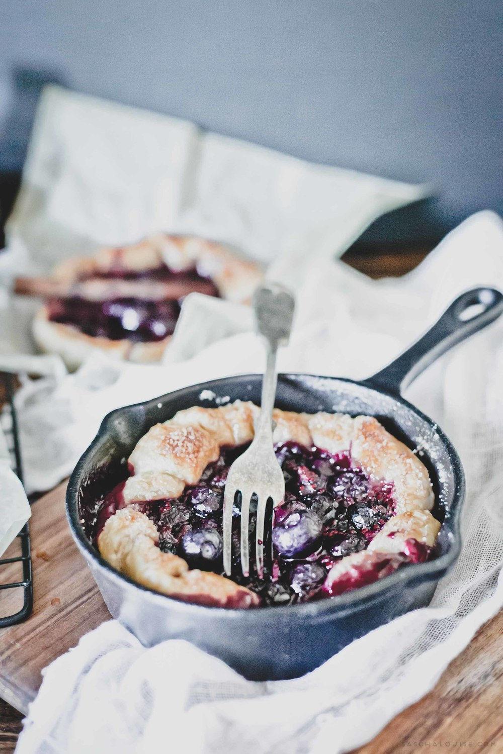 saschalouise.com - Rustic Blueberry Galette