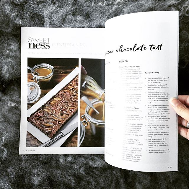 It's getting cooler...perfect weather for staying in, reading mags and baking a delicious pecan and pear tart! Find the recipe in the latest #everaftermagazine and thanks for the feature @everafter_magazine #winteriscoming #sydneyfoodies #pastrylovers #sydneyfoodiesblogger #sweetgastronomy @sascha_louise
