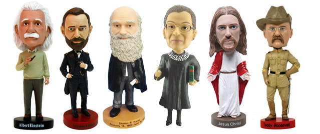 Einstein, Bader Ginsburg, and yes, even Jesus Christ.