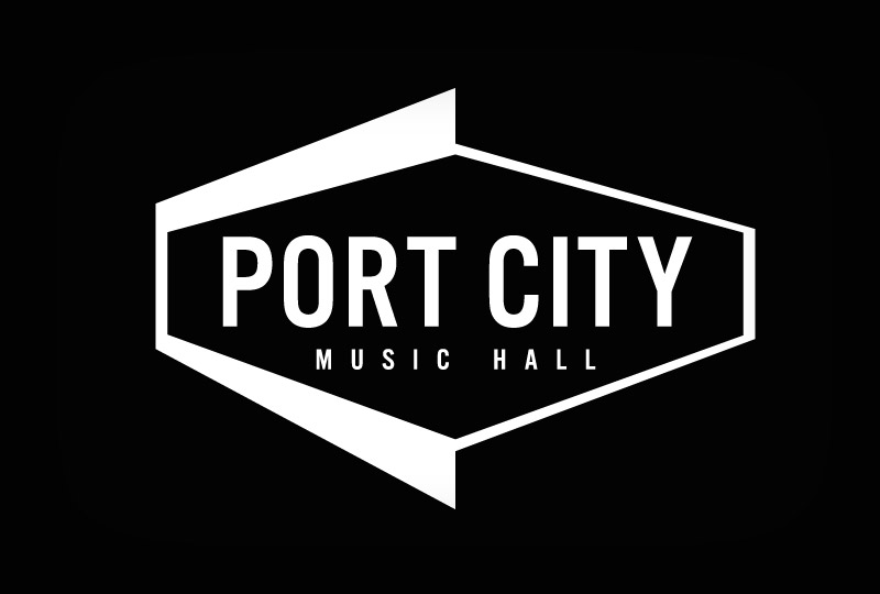 Port City Music Hall logo design by brand design firm Might & Main