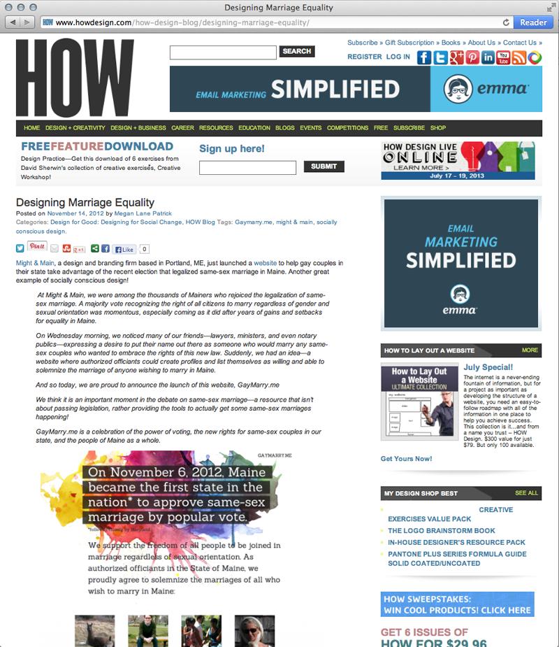 HOW Design Blog: Designing Marriage Equality, November 14, 2012