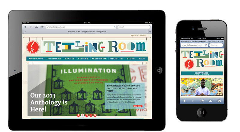 The Telling Room web design & development by brand design firm Might & Main