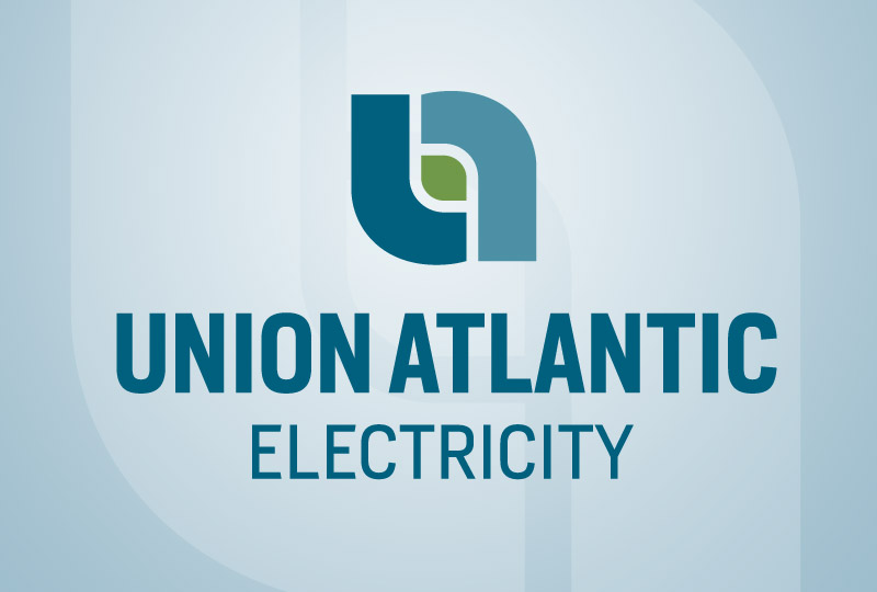 Union Atlantic Electricity logo designed by brand design firm Might & Main