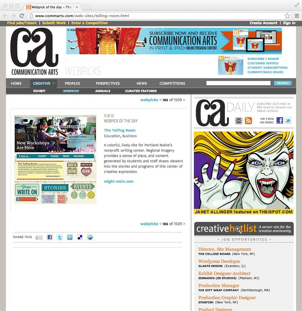 Communication Arts: Webpick of the Day, November 1, 2012