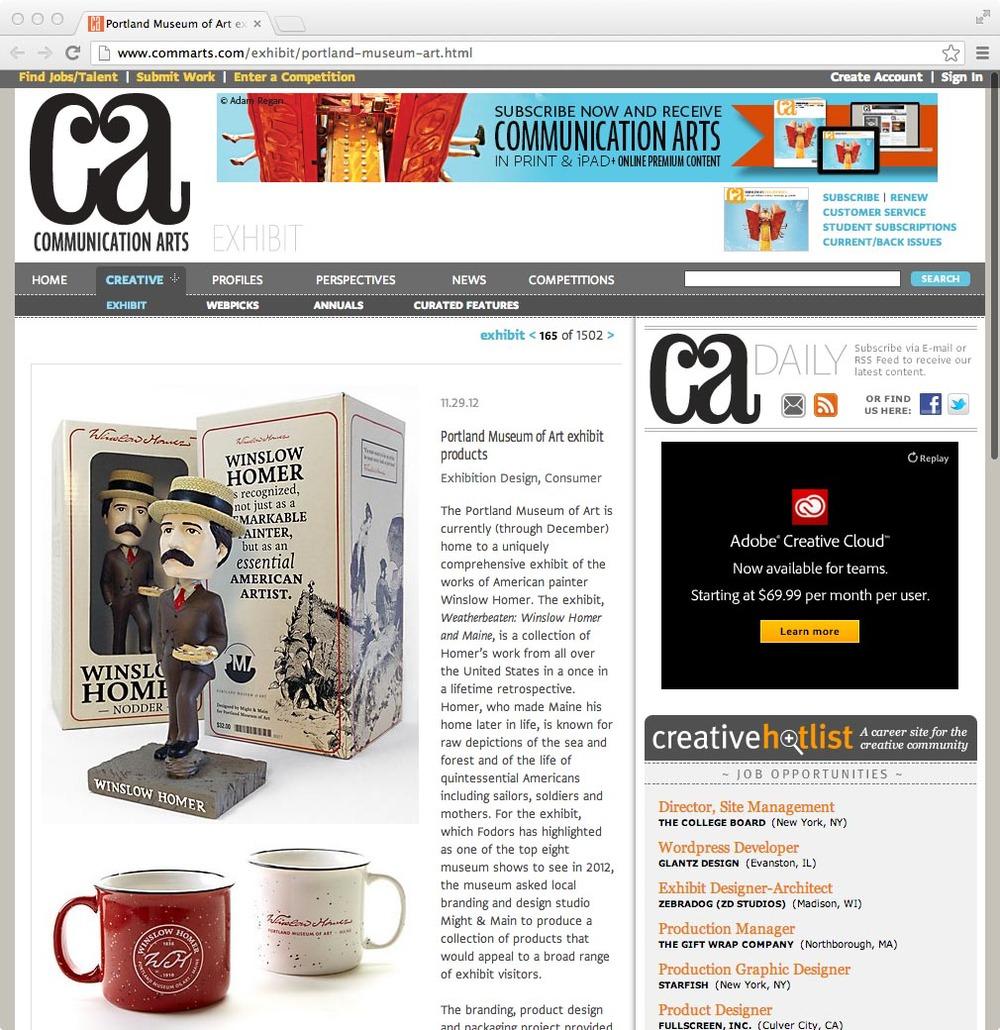 Communication Arts: Exhibit, November 29, 2012