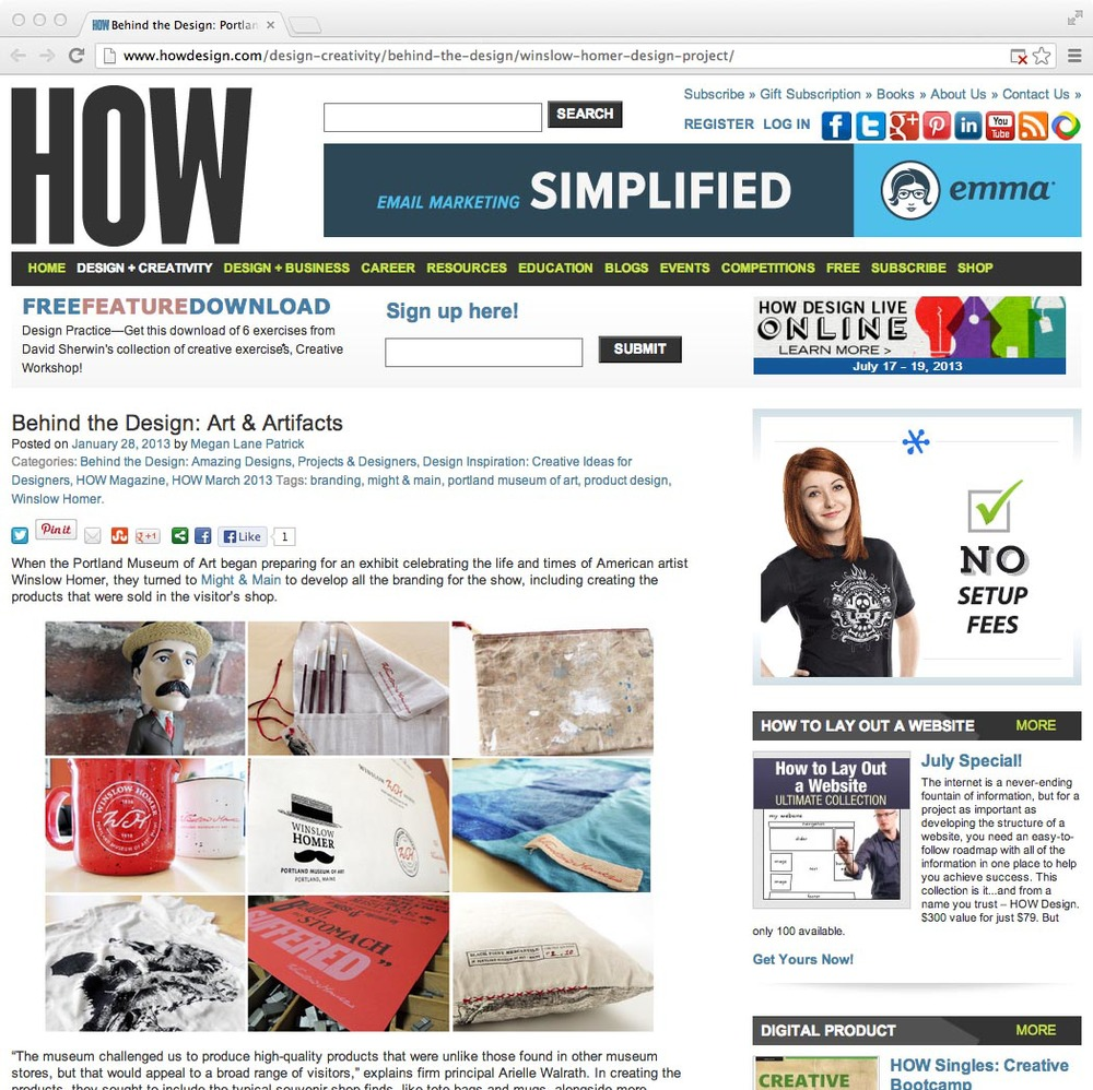 HOW Magazine: Behind the Design, January, 28, 2013