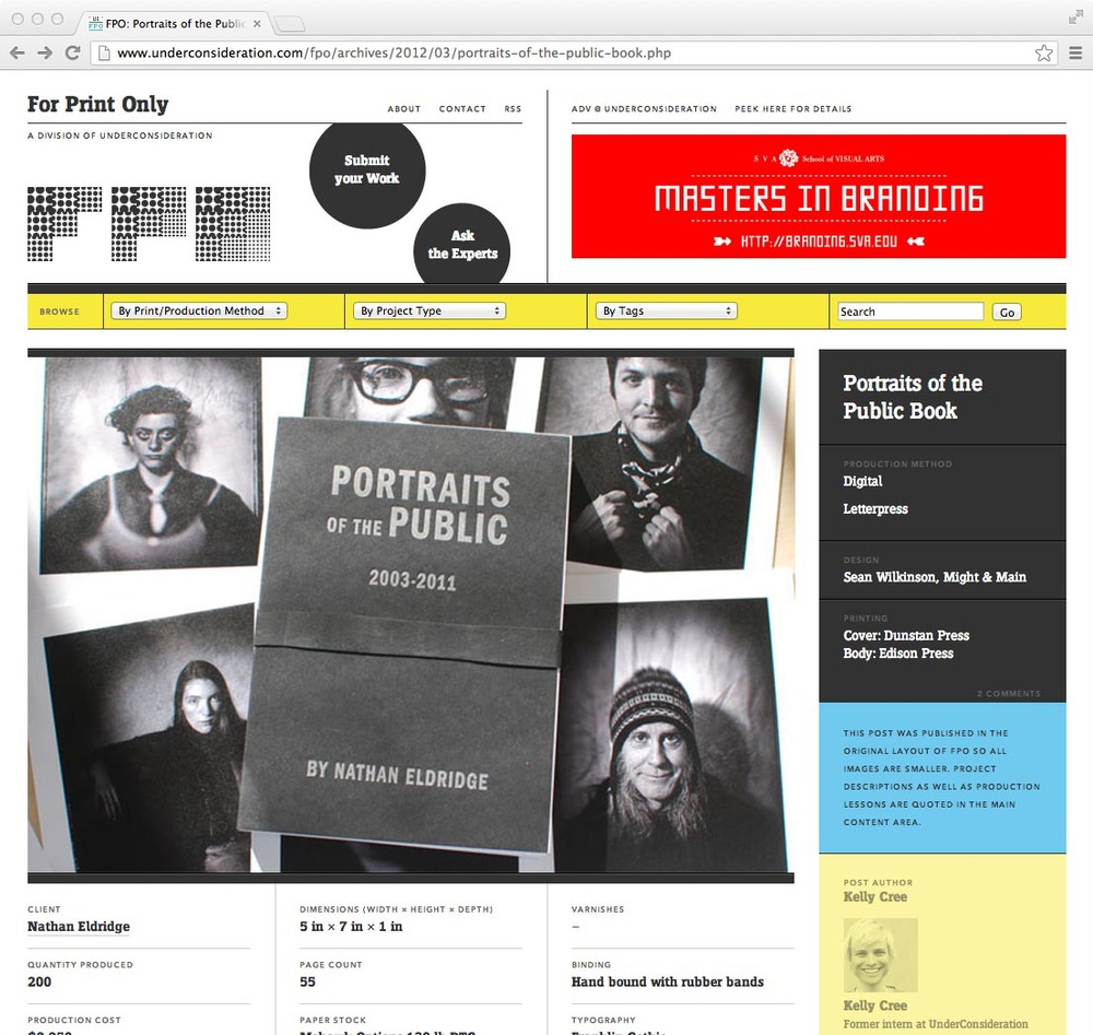 UnderConsideration's FPO: Portraits of the Public, March 8, 2012