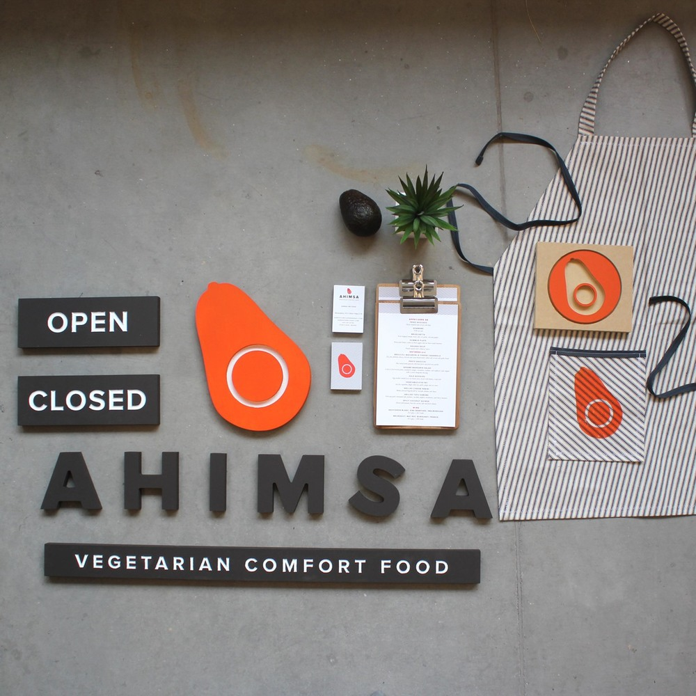 Ahimsa brand design and photo by Sarah McLean.