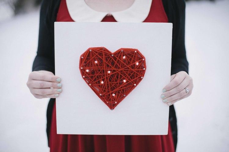 heart wall canvas