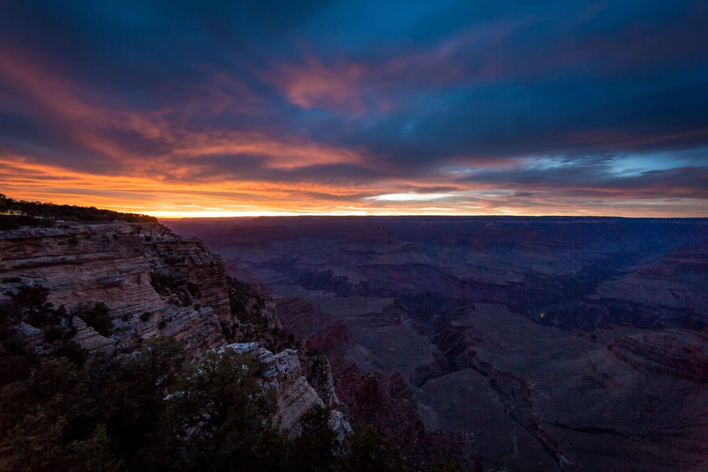sunset at mather point