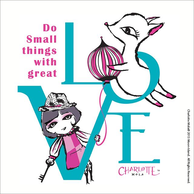 """# 0023, Do small things with great Heart   上次提過Charlotte的出現背後帶著一些使命,所  以辭工後的過去一年多都會主動接觸一些慈善團體或社企,  希望深入了解後, 找合適單位看看有什麼可以協作。  在做義工服務時,有時會看到好些人帶著沒勁的心去做事。  結果,他們的行為反而是防礙了別人機構運作,上星期再一  次為這些事有幾天不開心,結果做了這幅圖舒發下自已的心  情。    願每人都能帶著""""愛""""去做好每件小事,盼望MOONKEY樂於助人的性格能感染更多人。生命並不只事事計報酬,美好的世界是需要每人真心付出一點去建造,最後會發現自己不只是付出者,也是受惠者。希望所有義工或非義工都能用心去工作! Do small things with great LOVE!"""