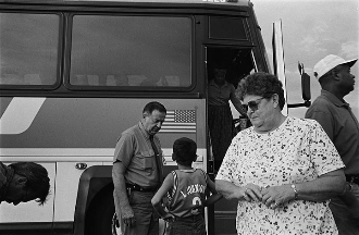 ACROSS AMERICA BY GREYHOUND:  In the summer of 2000 I traveled across the USA on an unlimited Greyhound ticket shooting black and white film.