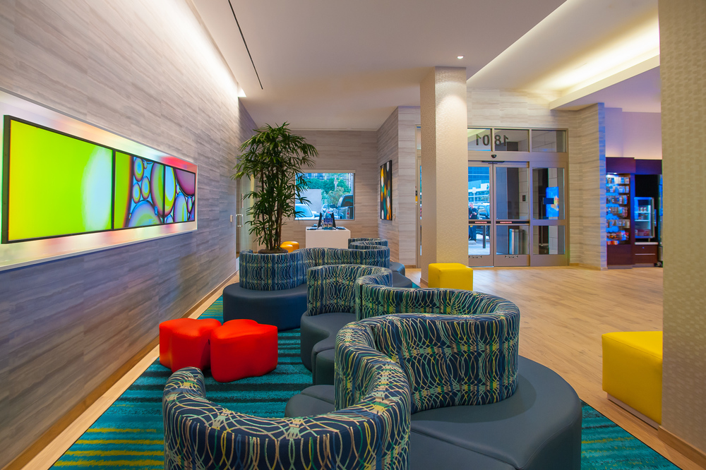 Springhill Suites Marriot Anaheim, LA Architectural Photography
