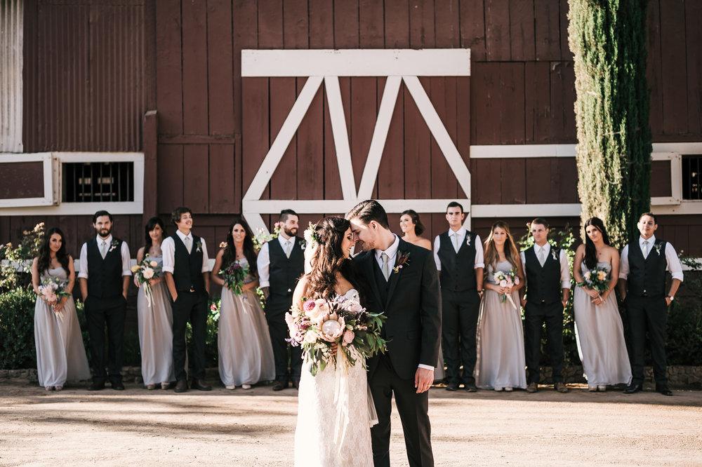 Rustic wedding photos at quail haven farms in vista california
