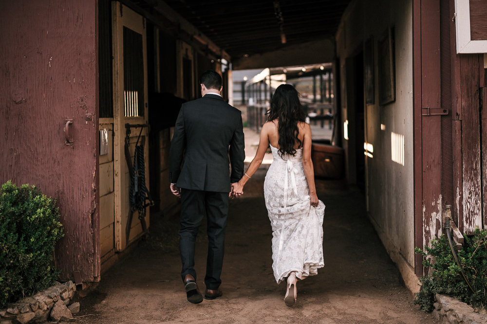 Romantic barn wedding at Quail Haven Farm.