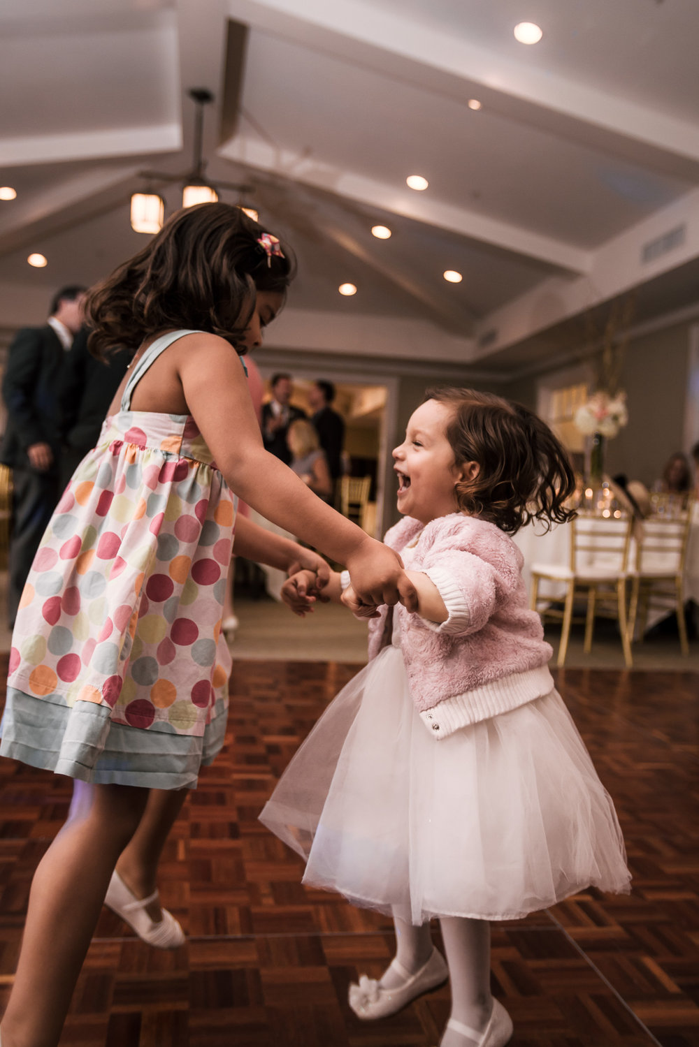 children have a blast dancing at the Twin Oaks Golf Course in San Marcos, San Diegos premier wedding venue