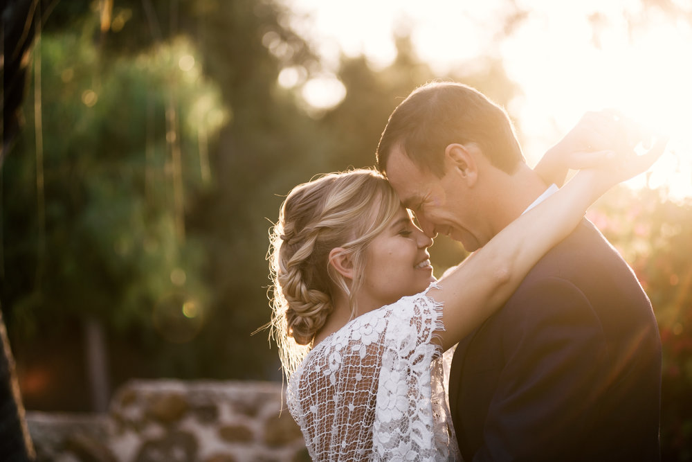 romantic photography captured by photographer during romantic wedding at the historic Leo Carrillo Ranch in Carlsbad California