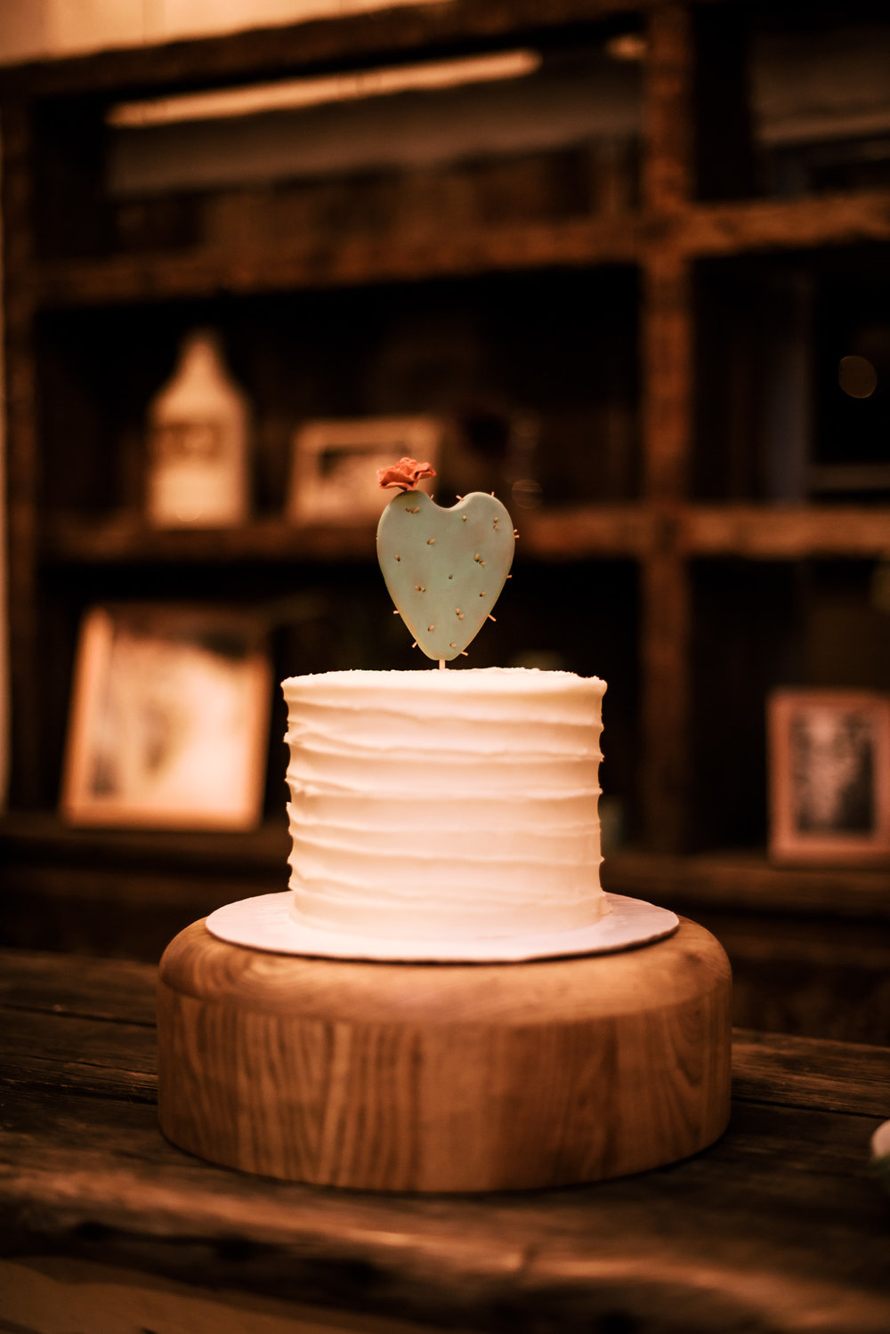 great cake idea for rustic decor captured by photographer during romantic wedding at the historic Leo Carrillo Ranch in Carlsbad California