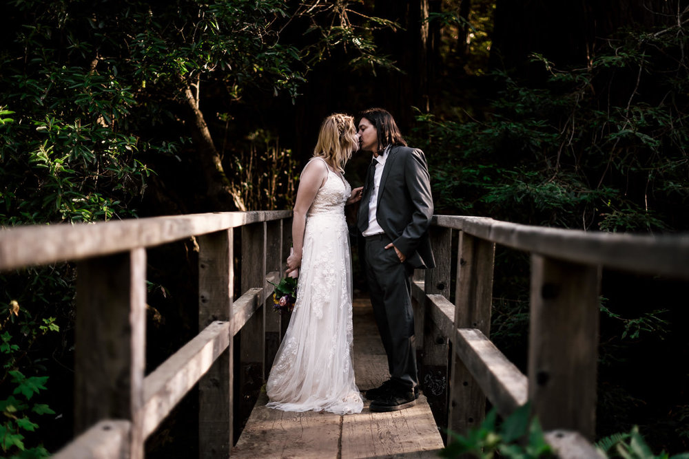 Another fantastic pick for your elopement is Big Sur  in California with its diverse scenery ranging from crashing waves on the sea cliffs to redwood forests carpeted in ferns you could xplore for hours on end.