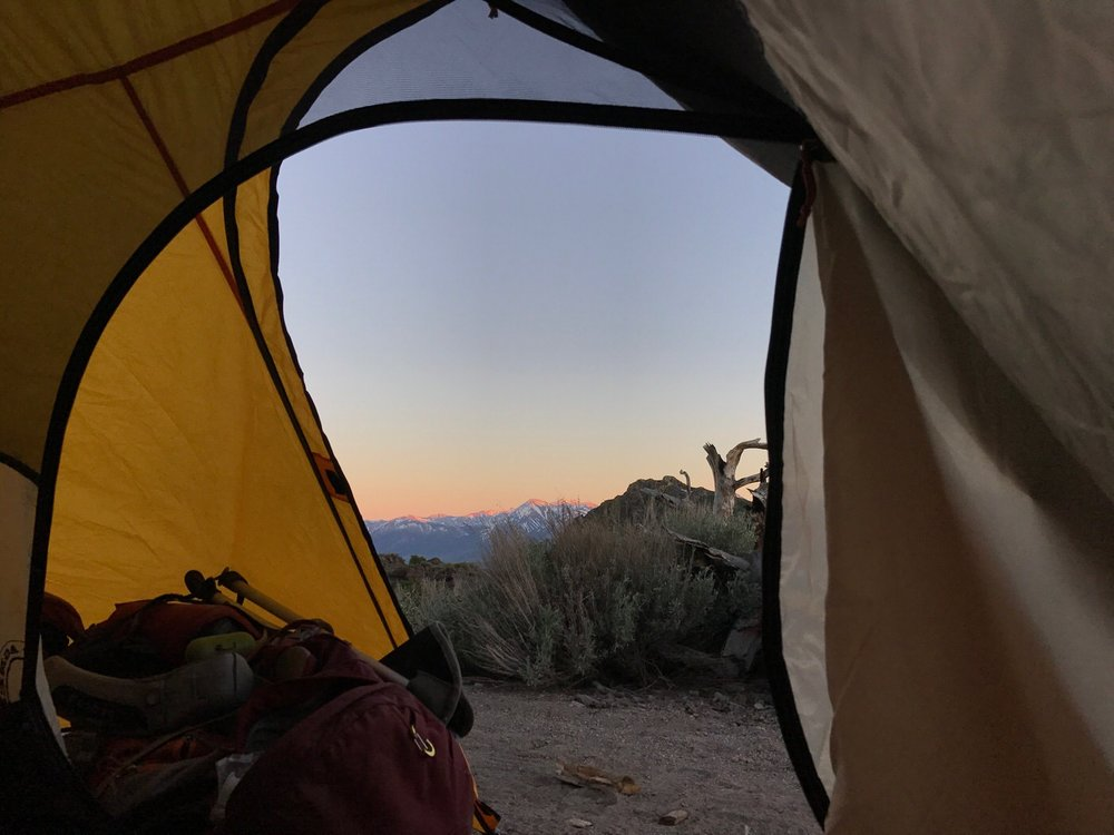 Sunset on the Eastern Sierra