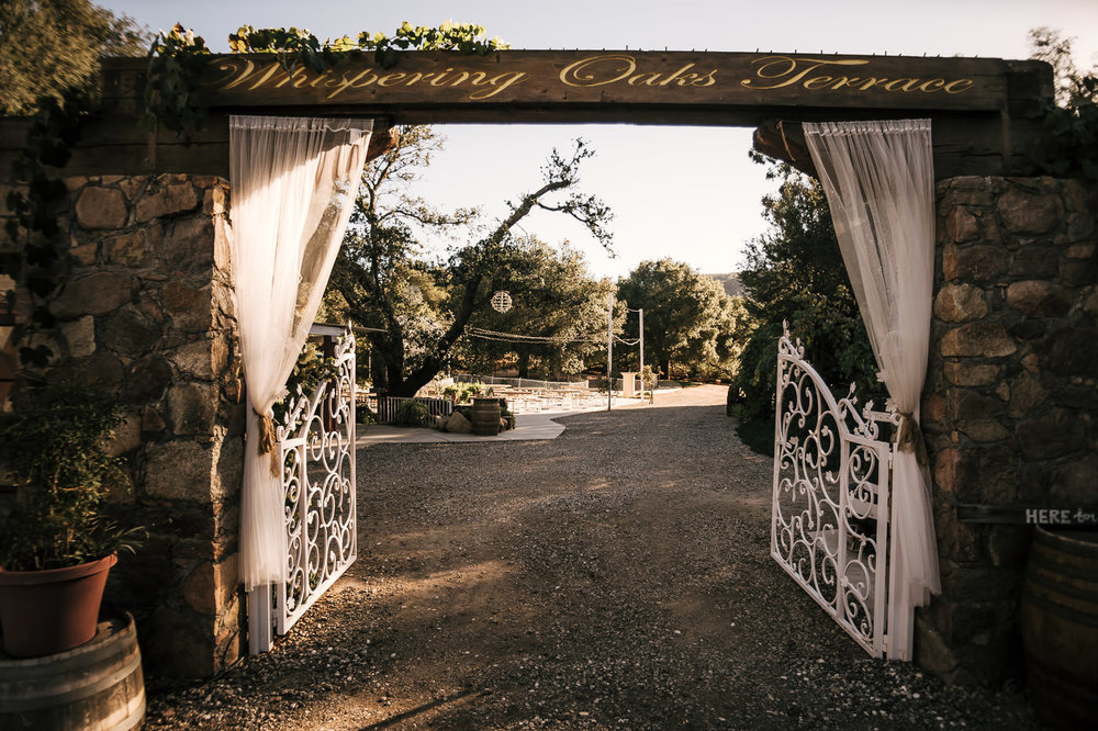 the whispering oaks terrace wedding venue in temecula california is a wonderland of rustic charm and country style.