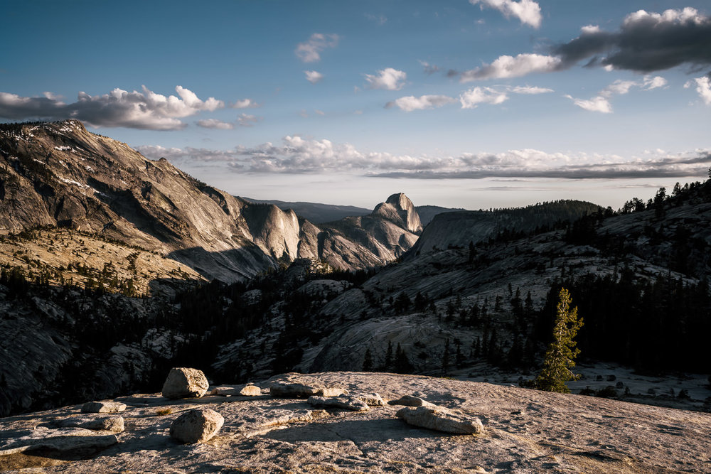 Intimate Elopement ceremony location at Olmstead Point in Yosemite National Park.