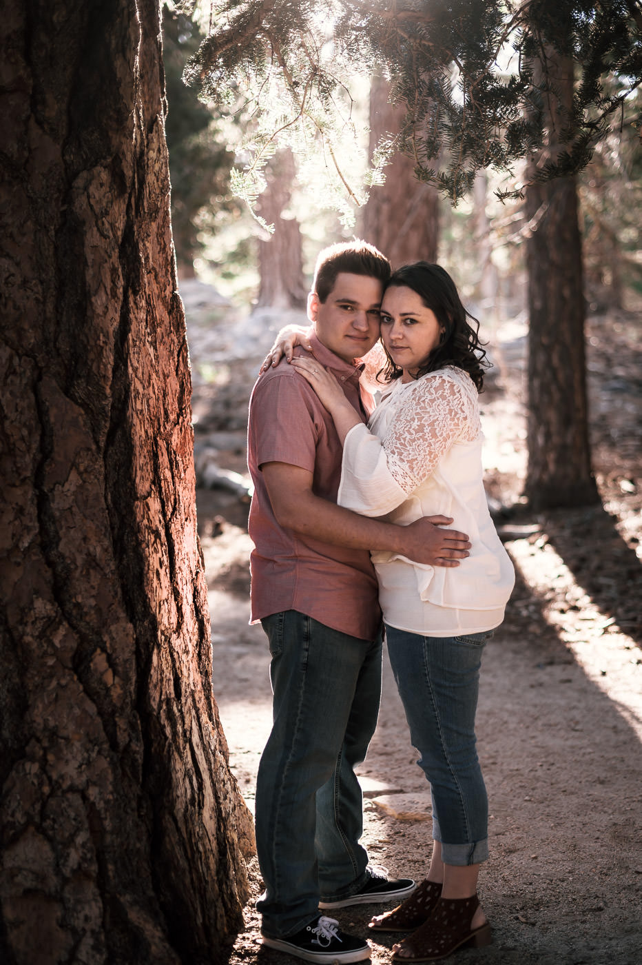 Engagement photos out in the beauty of nature in Mt San Jacinto.