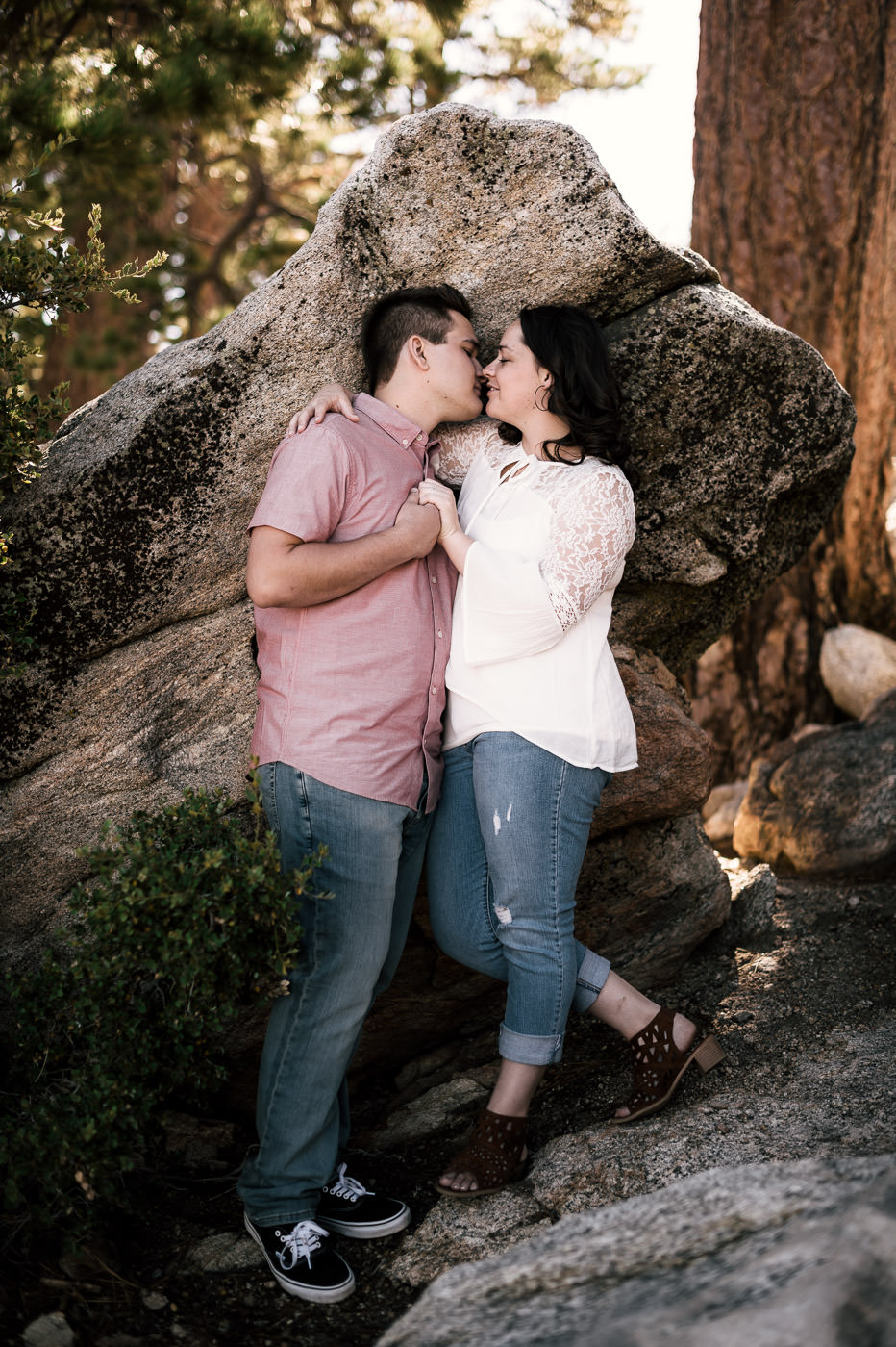 Young couple has a gorgeous sunset engagement at Mt San Jacinto