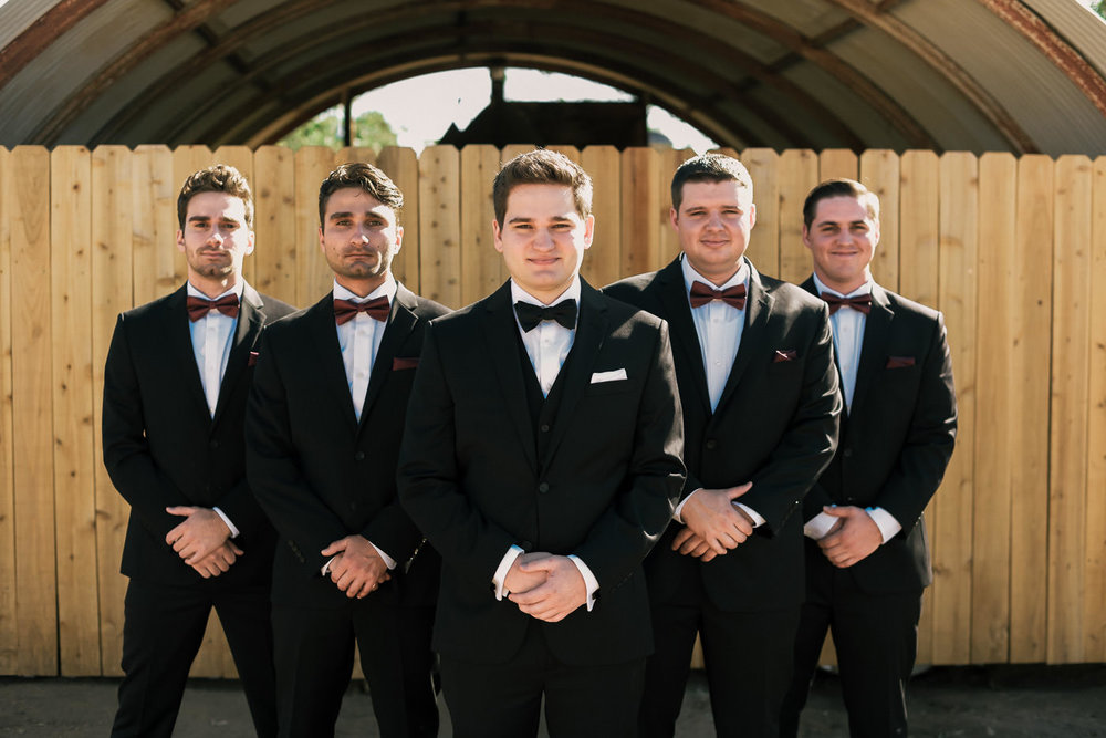 Groom forms up with his groomsmen for a dashing picture in Temecula California.