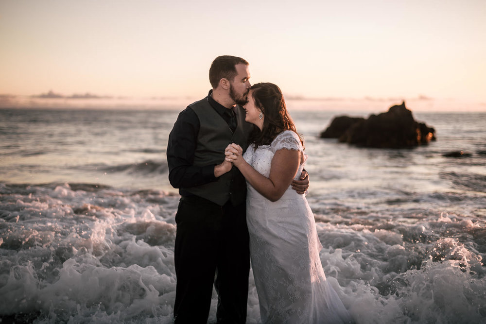 Romantic wedding photography in Laguna Beach.