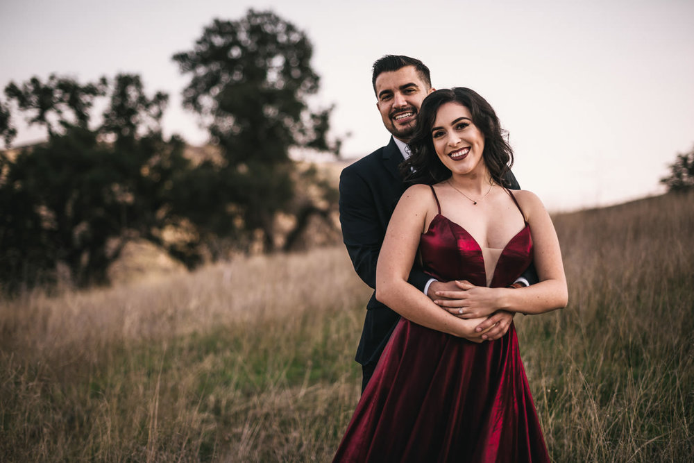 Malibu wedding photographer takes beautiful portrait of a couple in love.