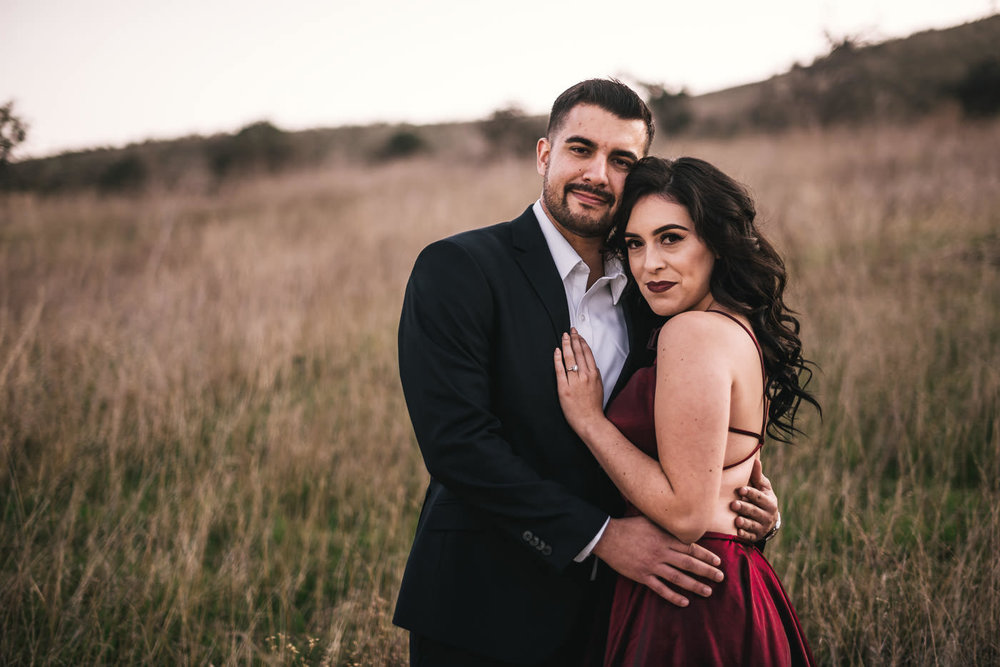 Model like couple has a stunning engagement session in Malibu California.
