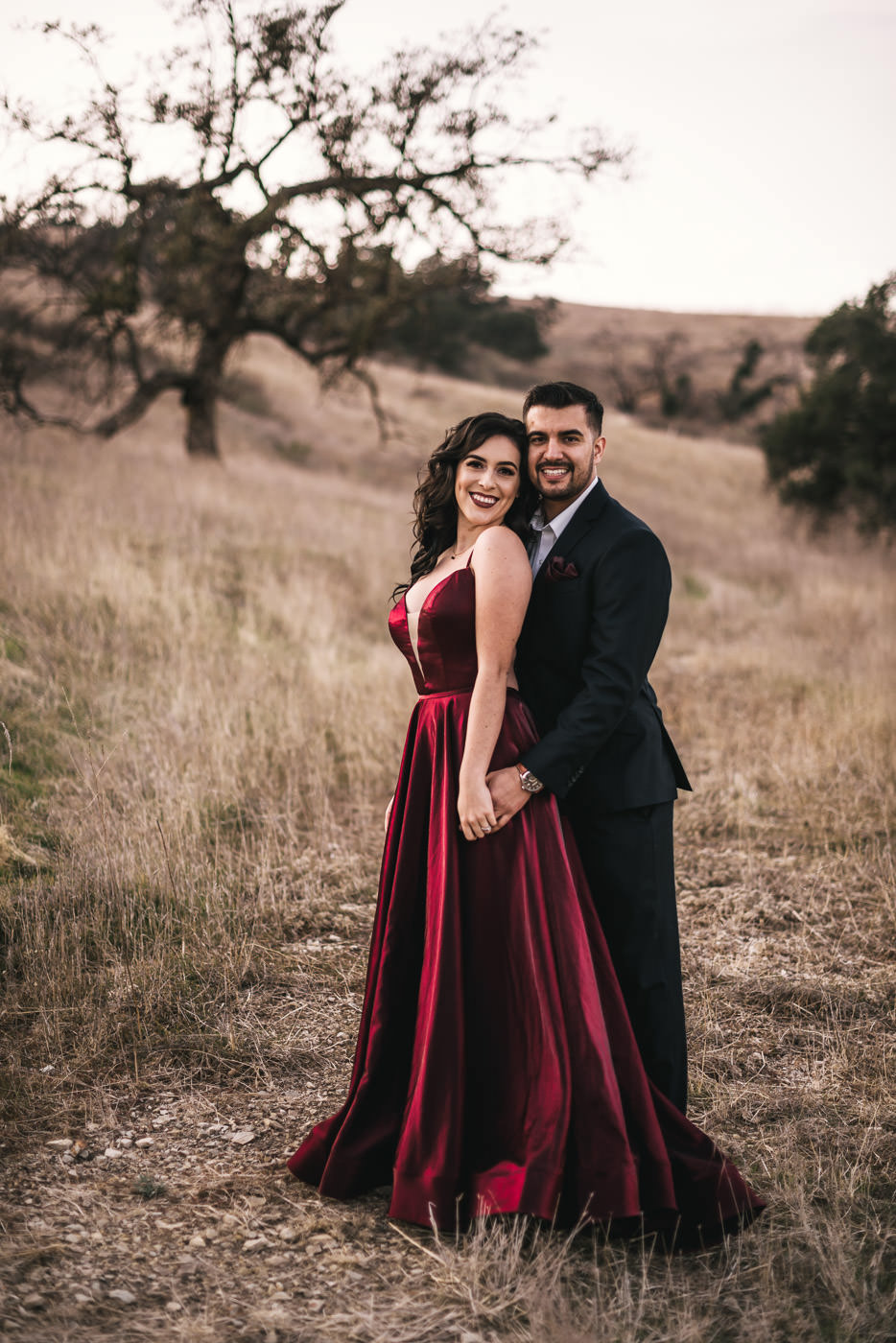 Couple has a stunning engagement session in Malibu California.