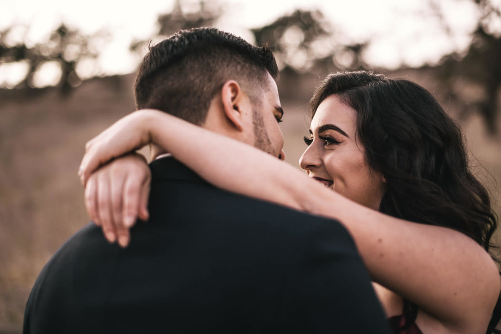 Getting lost in each others eyes at their engagement session.
