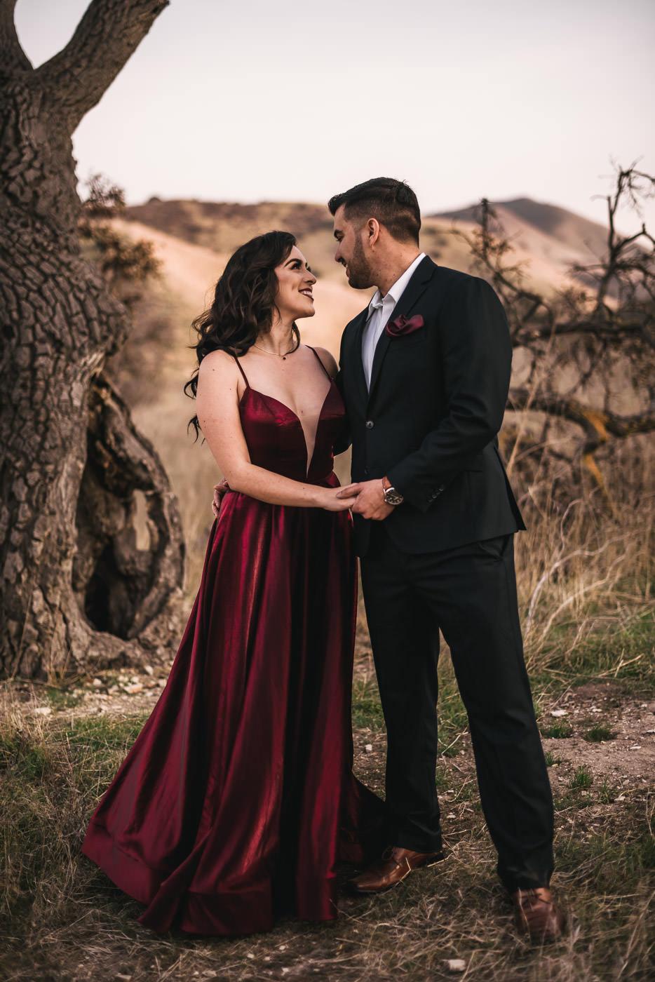 Beautiful engagement photography in Malibu California.
