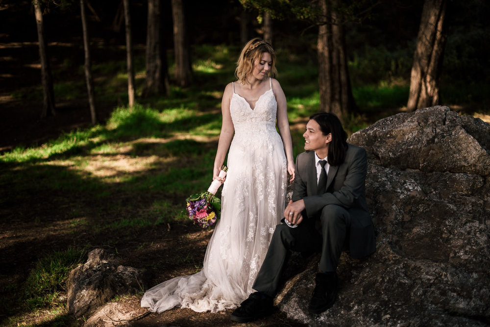 Beautiful wedding photos of a newly married couple.