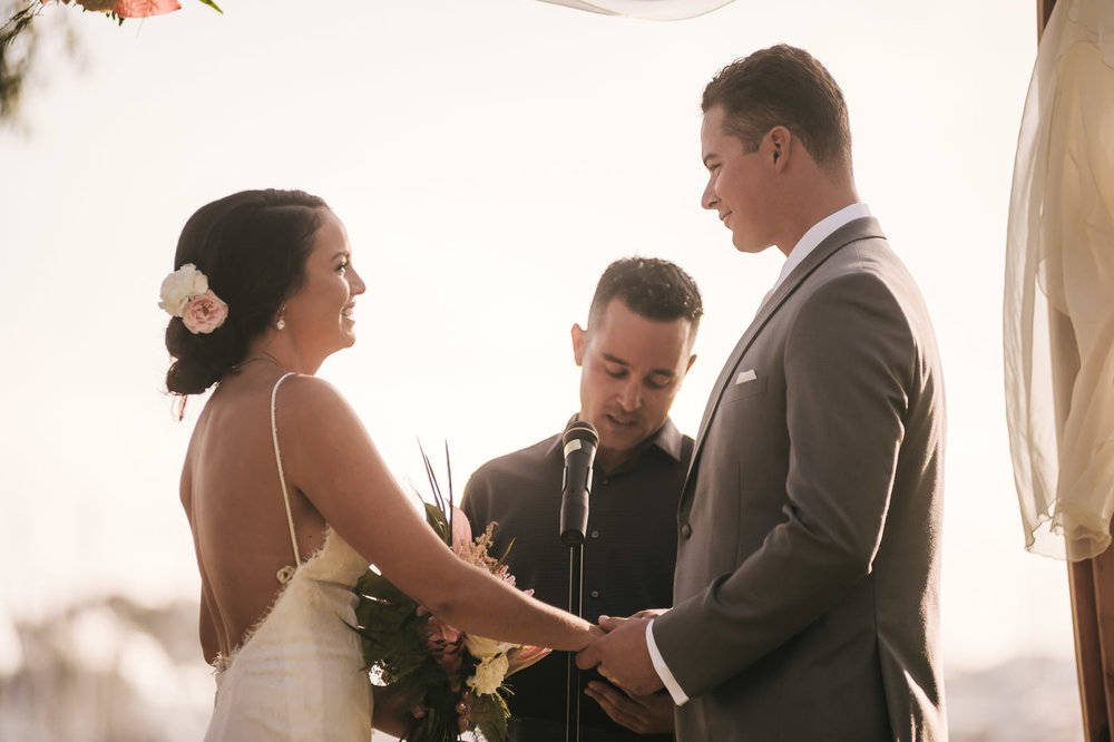 Beautiful couple ties the knot in San Diego California.