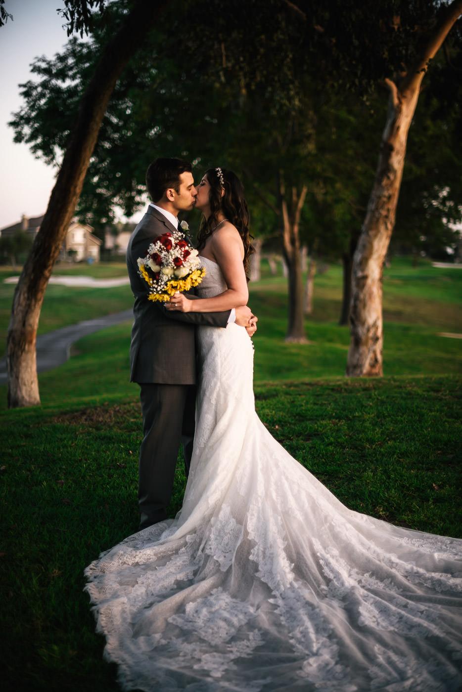 Romantic wedding at Alta Vista Country club in Placentia California.