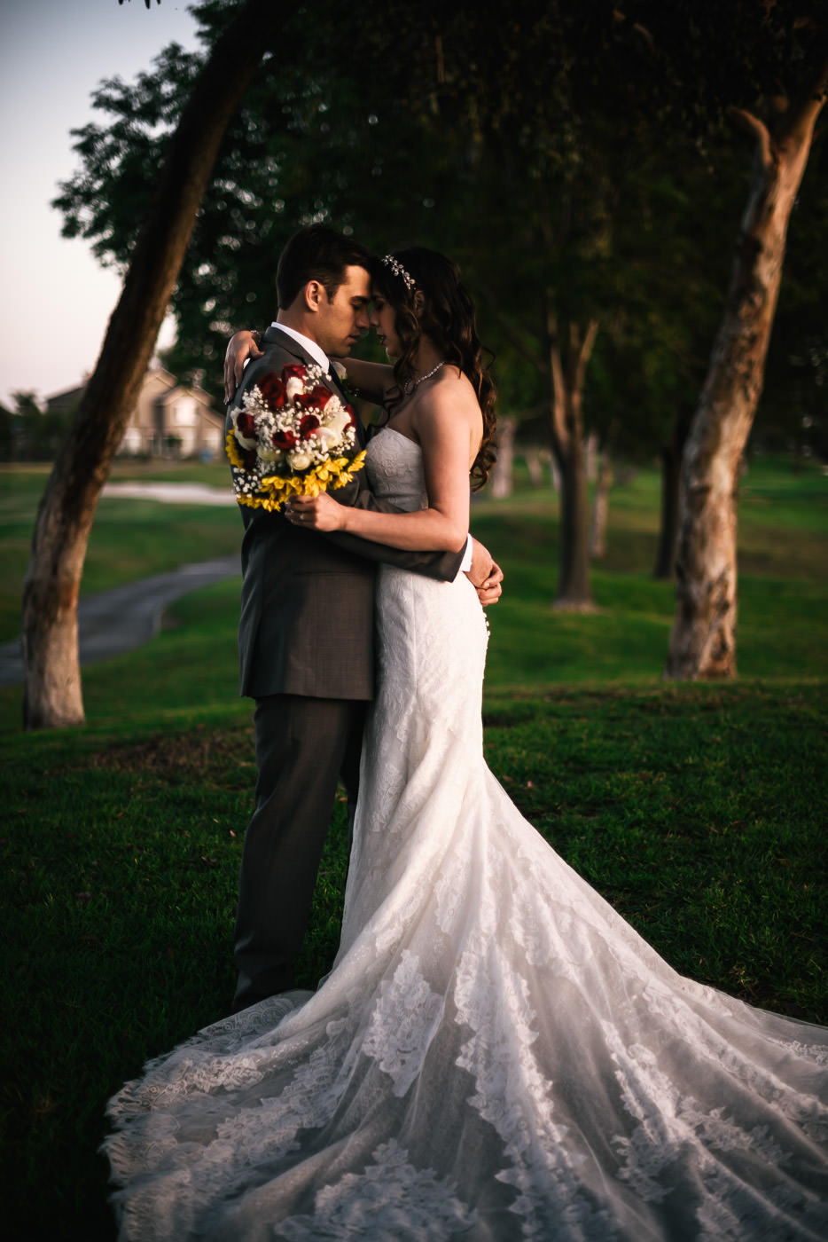 Romantic wedding photos by Fifth Photography.