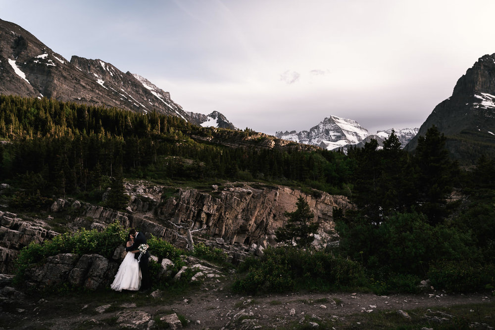 elopement Photography package Special - I simply can't get enough of photographing weddings in the stunning landscapes Glacier provides, so I'm offering 10% off elopements and destination wedding packages in Glacier National Park, Montana. Whether you're planning a wedding near the park, or an elopement out in the wilderness, you'll find an all day wedding photography package perfect for your love story below. Take me on your adventure, and we'll create something truly spectacular.