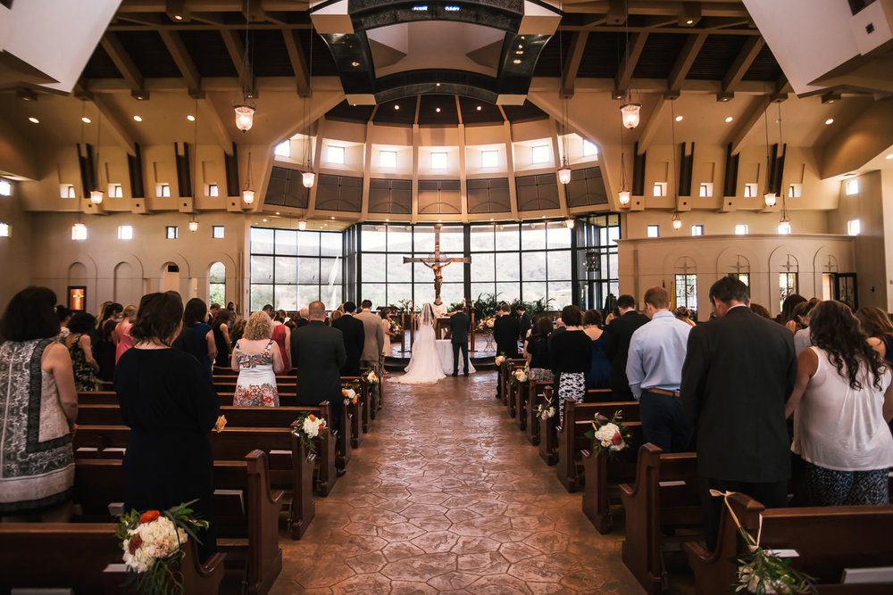St Therese Carmel Church marriage ceremony.